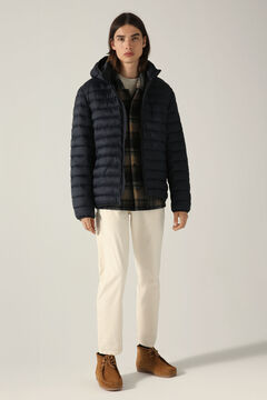 Springfield Detachable hood quilted thermal jacket navy