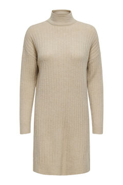 Springfield Jersey-knit mock turtleneck dress gray