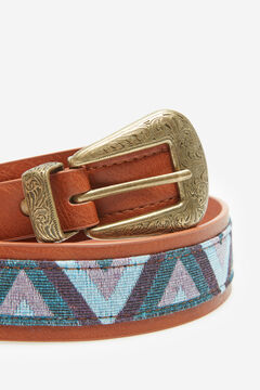 Springfield Combined fabric belt pink