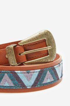 Springfield Cinturón tejido combinado rosa
