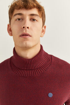 Springfield ORGANIC COTTON POLO NECK JUMPER red