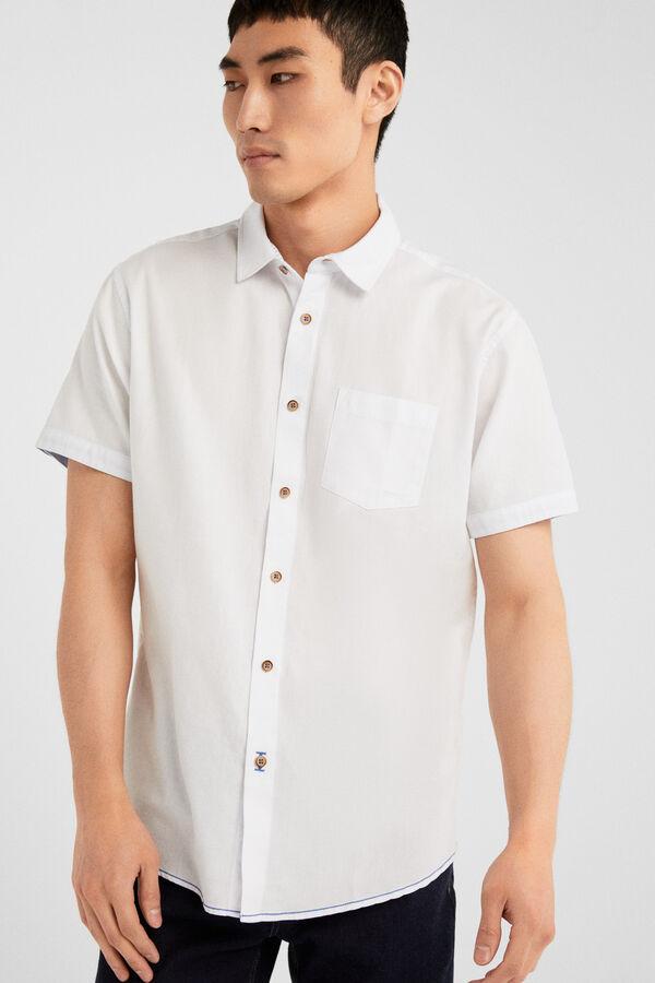 f6923d3e937b Springfield Camisa estructura blanco