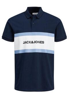 Springfield Colour block logo polo shirt  marineblau