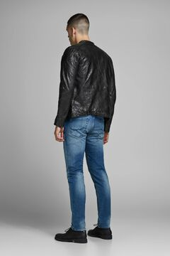 Springfield Leather biker jacket black
