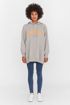 Springfield Oversize hooded sweatshirt gray