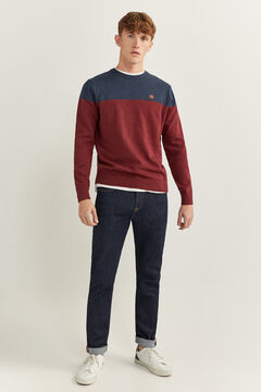 Springfield COLOUR BLOCK MELANGE JUMPER red