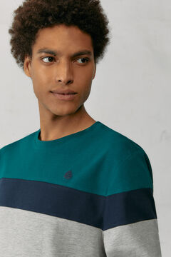 Springfield Block long-sleeved piqué T-shirt violet