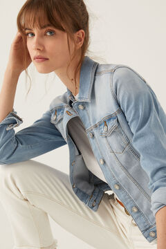 Springfield Organic cotton denim jacket blue