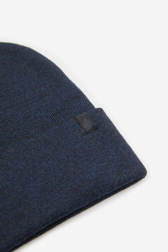 Springfield TEXTURED MOTTLED KNIT HAT blue