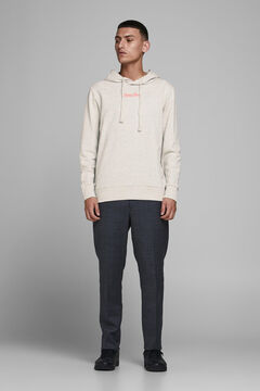 Springfield Sustainable jersey-knit hoodie white
