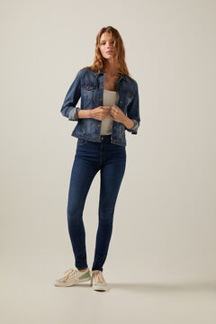 Springfield Sustainable wash body shaping jeans blue