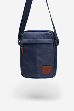 Springfield Blue combination fabric crossbody bag blue