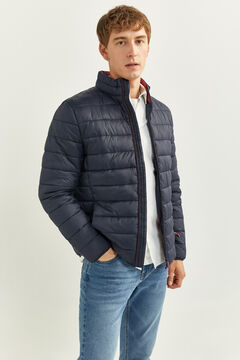 Springfield QUILTED JACKET WITH RECYCLED POLYESTER PADDING blue