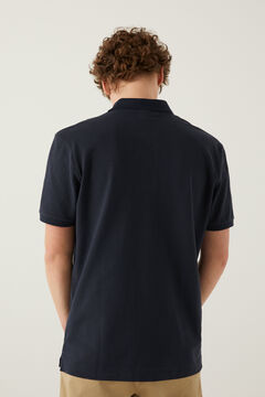 Springfield Essential piqué polo shirt blue