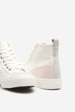 Springfield Canvas High Top Sneaker ecru