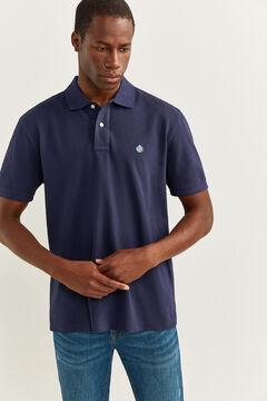 Springfield ESSENTIAL PIQUE POLO SHIRT bluish