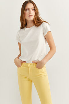 Springfield Slim Fit Cropped Jeans mustard
