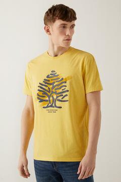 Springfield Logo t-shirt mustard