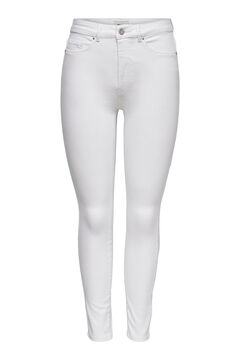 Springfield Mid rise cigarette fit jeans white
