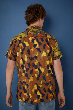 Springfield Double print short-sleeved shirt green