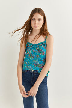Springfield Crossover back cami top green
