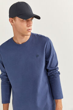 Springfield ESSENTIAL LONG-SLEEVED T-SHIRT indigo blue