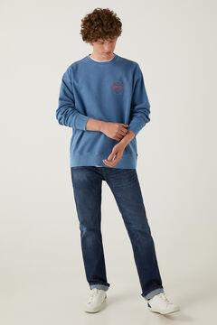 Springfield Sudadera básica cuello redondo azulado
