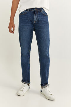 Springfield DARK WASH REGULAR FIT JEANS blue