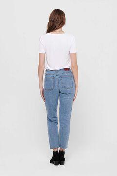 Springfield Straight high rise jeans bleuté