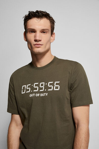 Springfield - Camiseta print clock - 2