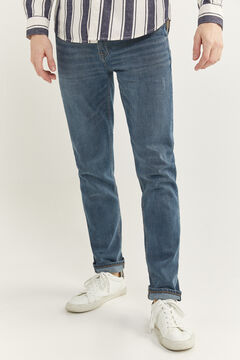 Springfield DARK GREY WASH SLIM FIT JEANS blue