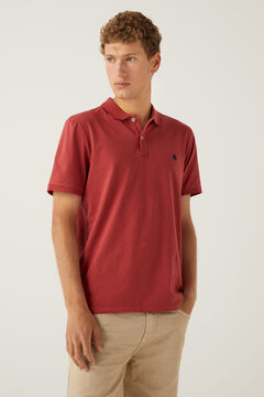 Springfield Slim fit lightweight polo shirt royal red