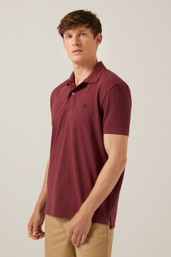 Springfield Marl polo shirt deep red