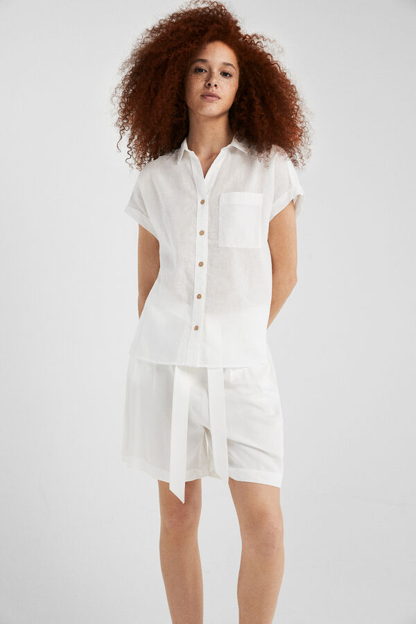 925a18eb2 Springfield Oversized shirt natural