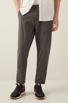 Springfield Pleated chinos grey mix