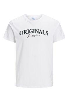 Springfield Logo text t-shirt  blanc