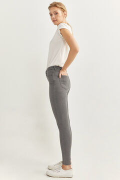 Springfield Hose Denim Jeggings grau