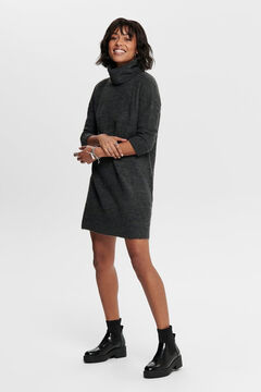 Springfield Polo neck jersey-knit dress  gray