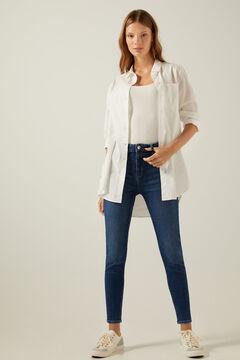 Springfield Jeans skinny high rise lavage durable blau