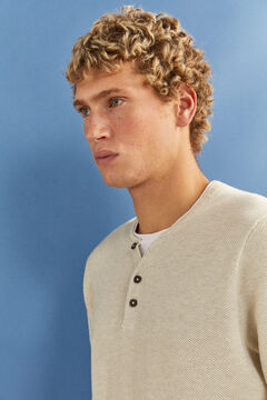 Springfield Layered Henley jumper grey
