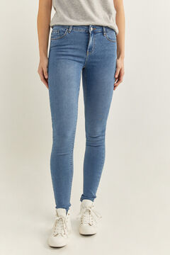 Springfield Jeans Jegging Lavagem Sustentável azul aço