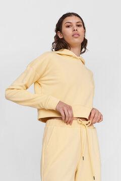 Springfield Crop hooded sweatshirt banana