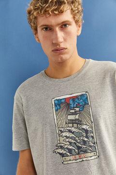 Springfield T-shirt curta cinza