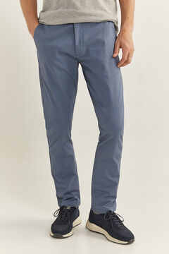 Springfield Essential slim chinos blue mix