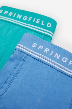 Springfield Pack 2 boxers básicos cor azul