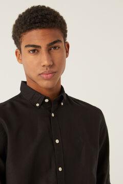 Springfield Linen shirt black