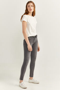 Springfield Recycled Cotton Slim Fit Jeans grey