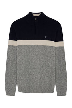 Springfield ORGANIC COTTON ZIP-UP JUMPER grey