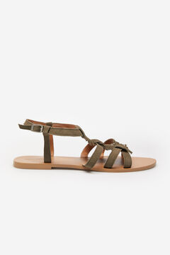 Springfield Fringed suede leather sandal yellow