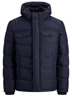 Springfield Padded jacket with hood navy